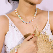 Beads Clavicle Choker Charm Jewelry Boho Baroque Pearl Women Necklace Multicolor