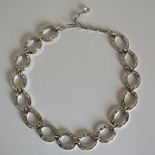 VINTAGE Collier maillons strass TRIFARI Chain link Necklace Halskette Collana