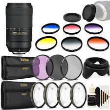 Nikon AF-P DX NIKKOR 70-300mm f/4.5-6.3G ED VR Lens and Top Accessory Kit