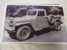 1950 WILLYS JEEP   4DW   PICKUP  11 X 17  PHOTO  PICTURE