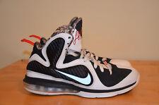 Nike Lebron 9 Freegums White Black Sport Red 469764-101 Miami Heat SZ 9.5