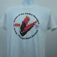 Vintage 1984 Olympics DIVING Swim Stadium Triplicate Image T-Shirt Size Large