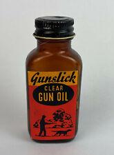 vintage OUTERS GUNSLICK GUN OIL ADVERTISING BOTTLE