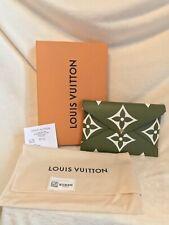 NEW LOUIS VUITTON KIRIGAMI GREEN GIANT MONOGRAM LARGE Snap Pouch + RECEIPT