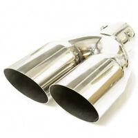 Double Exhaust Tip Trim Pipe For Opel Omega Tigra Vectra Meriva Signum Zafira