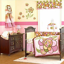 FULL CRIB SIZE- Cocalo Baby - Willa DIAPER STACKER VALANCE & NURSERY BEDDING SET