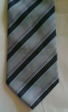 Marks & Spencer blue and purple striped polyester tie