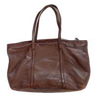 Brooks Brothers Pebble Leather Tote Bag Purple Soft Leather Satchel  EUC