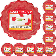 10 YANKEE CANDLE Cherries on Snow TARTS WAX  MELTS