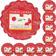 10 YANKEE CANDLE Cherries on Snow TARTS WAX  MELTS