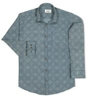 Men's SHIRT 100% COTTON Check Printed Long Sleeve M-2XL New Shirt Button-Down