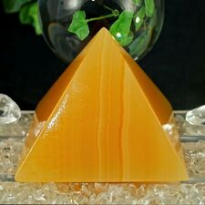 Orangencalcit Pyramide XL Edelstein Pyramide AA Quali. 80 x 80 mm 55° 385 g