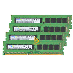 SAMSUNG 4x 8GB PC3L-12800E DDR3-1600Mhz ECC UDIMM Unbuffered RAM M391B1G73BH0 %y