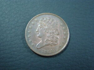 1833 Classic Head Half Cent About Uncirculated 90405