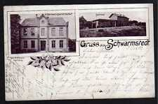 79664 AK Schwarmstedt Bertrams Gastwirtschaft Bahnhof Gleisseite 1903