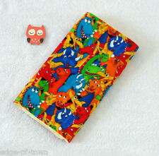 Handcrafted Bold Dinosaurs Flannel Print & Yellow Minky Bubble, Baby Burp Cloth