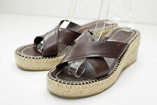 DKNY 9 Brown Sandals Platform Women's