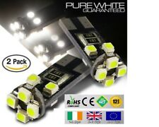 2x T10 W5W 501 Wedge CanBus LED No Error Free HID Xenon White Bulbs Side Lights