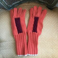 Super Cool MALO Leather and 100% Cashmere gloves Sz 8 Made in Italy
