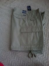 Chaps Men  Cargo  Shorts Size 34, Hudson Tan, 100% Cotton Retail Price $60.00,