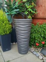High Quality flower pot Sand Slim pots new design GARDEN PATIO Tall 62 cm  grey