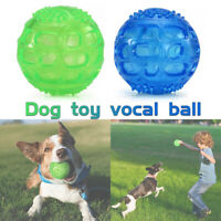 Make sounds Chew Toys for Large Dogs Indestructible Rubber Floating Squeaky Ball