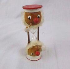 Vintage Mid Century Wood Sailor Hourglass Egg Timer Kitsch Japan