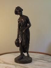 Antique Bronze Figurine African Female with Water Jag by Artist C. Cumberworth