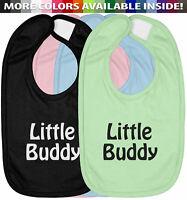 Little Buddy Infant Baby Bib Cotton Hook & Loop Closure Baby Shower Gift Cute
