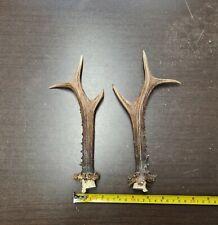 Large ~10 inch (~25cm) Pair Roe Deer Antlers For Handles Trophy Decoration #5650