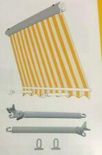 Tenda da sole a caduta cassonata da balcone in alluminio avvolgibile con bracci