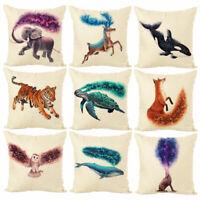 JN_ ALS_ 45x45cm Animal Printed Throw Pillow Case Cushion Cover Home Sofa Bed