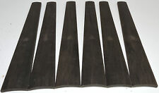 6 Gabon Ebony 4/4 Violin Fingerboards High Graded Violin Viola Musical Lumber