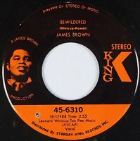 JAMES BROWN: Brother Rap / Bewildered USA KING Funk Soul 45 VG+