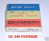 GENUINE KAWASAKI PISTON RINGS G5 72 75 .040 OVERSIZE 13024-043