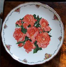 Royal ALBERT BONE CHINA Armadietto Piastra-Elisabetta di Glamis Rose *