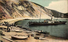 Weymouth. Lulworth Cove # 30 by LL / Levy. Coloured. Paddle Steamer.