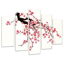 Set of 5 Pink Cream Red Japanese Canvas Wall Art Bedroom Pictures 5081
