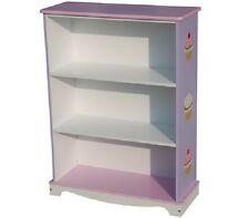 Kids Girls Wooden Bookcase Bookself Storage Cup Cake Design