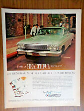 1962 GM Harrison Automotive Air Conditioning Ad  Chevrolet Chevy Impala