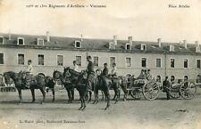 Carte VINCENNES 12 et 13 ème Régiments d'Artillerie Pièce attelée