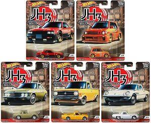 NEW 2020 HOT WHEELS JAPAN HISTORICS 3 SET OF 5 NISSAN  MAZDA HONDA DATSUN CARS