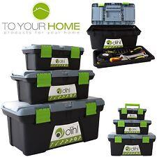 Pecho de plástico 3pc Caja de Herramientas Set Caja de herramientas de almacenamiento compartimiento de bricolaje bolsa de manejar & De Bandeja