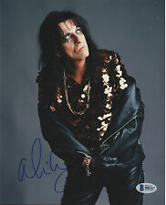 ALICE COOPER SIGNED AUTO'D 8X10 PHOTO BAS COA THE GODFATHER OF SHOCK ROCK HOF C