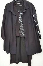 Sarah Santos 3 Teiler, Kleid Jacke Sweatshirt  Gr. xxl 48-50 Lagenlook NEU
