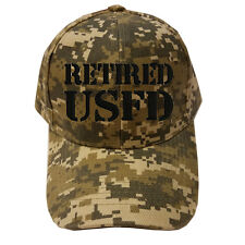 DIGITAL CAMO CAMOUFLAGE Military Cap Hat RETIRED USFD RETIRED FIREFIGHTER