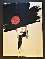 RENE GRUAU Original Pencil Signed Ltd Edition Lithograph Hand-Applied Gouache 70