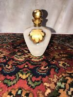 Vintage Glass Irice Perfume Bottle~West Germany Gold and Frosted Glass