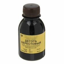 Birch tar oil 100 ml (3,4 fl. oz) natural antiseptic,diseases, Betula Russia