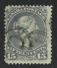 Canada 1868 Large Queen 15c grey #30 -  House of Commons cancel